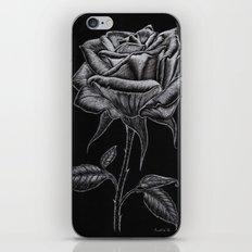 Silver Rose iPhone & iPod Skin