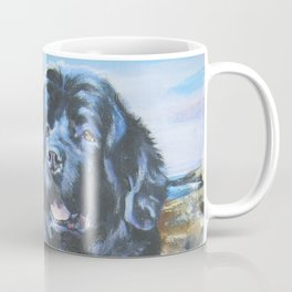 Newfoundland dog art from an original painting by L.A.Shepard Coffee Mug
