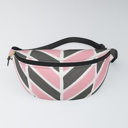 Herringbone Acrylic – Blush and Grey Palette Fanny Pack
