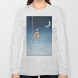 The lovely girl shakes on a swing Long Sleeve T-shirt