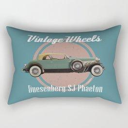 Vintage Wheels: Duesenberg SJ Phaeton Rectangular Pillow