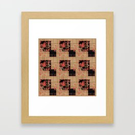 Abstract floral pattern Framed Art Print