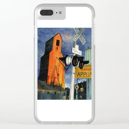 Grainery at Sunset Clear iPhone Case