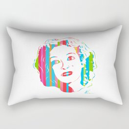 Baby Jane   Pop Art by William Cuccio Rectangular Pillow