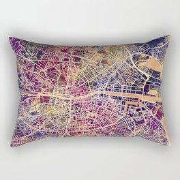 Dublin Ireland City Map Rectangular Pillow