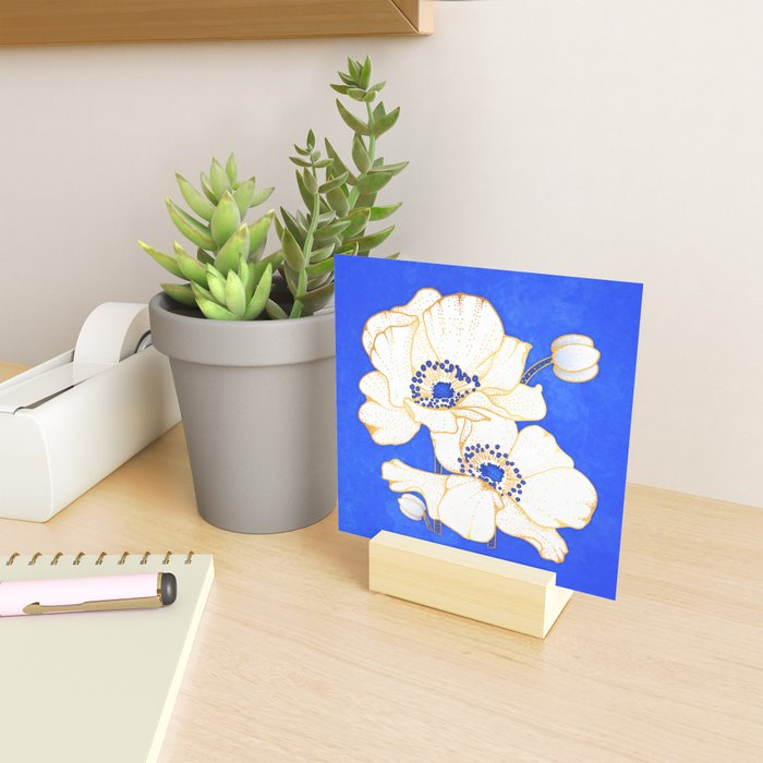 Ultramarine Blue :: Anemones Mini Art Print
