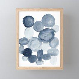 Pebbles Watercolor Abstract Framed Mini Art Print