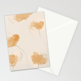 Soft Tangerine Floral Stationery Cards