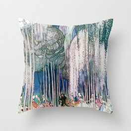 Kay Nielsen - Twelve Princesses Who Get Out Of The Castle And Dance To The Magical Kingdom Throw Pillow