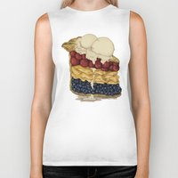 american Biker Tanks featuring American Pie by Megs stuff