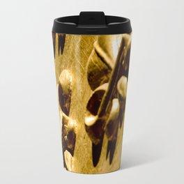 Parisian Gold Fluer De Lis Embossed Design Travel Mug