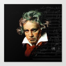 Beethoven - Music Demon Canvas Print