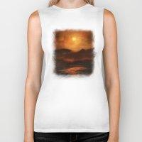 sunset Biker Tanks featuring Sunset by Viviana Gonzalez