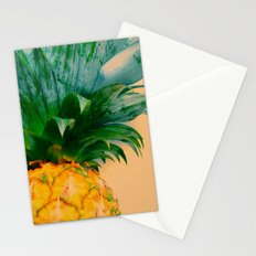 Pineapple in orange Stationery Cards