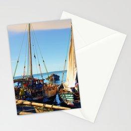 Dhow Boats Stone Town Port Zanzibar Stationery Cards
