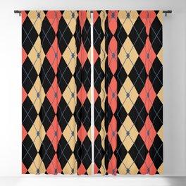 Rhombus Color Combination 4 Blackout Curtain