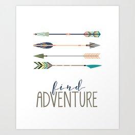 Find Adventure Art Print