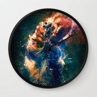 rick grimes Wall Clocks featuring TwD Rick Grimes. by Emiliano Morciano (Ateyo)
