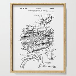 Jet Engine: Frank Whittle Turbojet Engine Patent Serving Tray