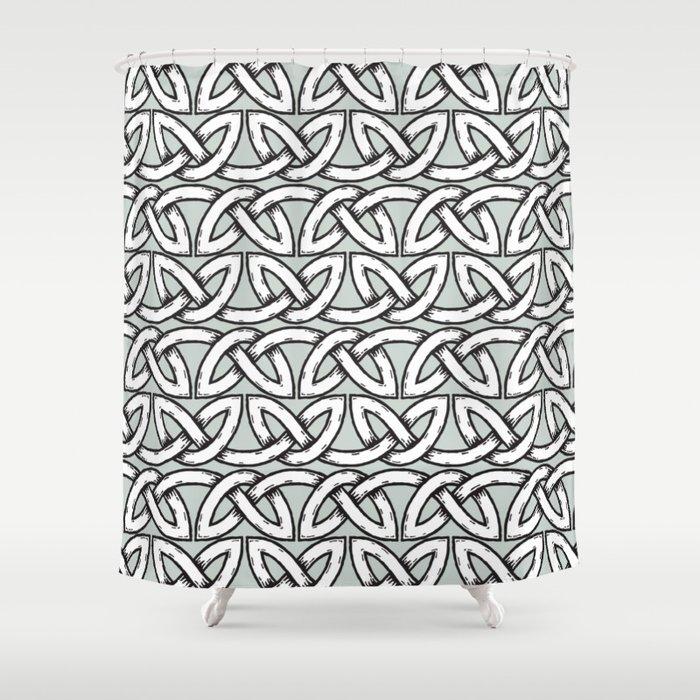 Viking Pattern   Warrior Valknut Norse Mythology Shower Curtain