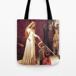 Knight of Excalibur Tote Bag