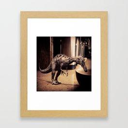 Thirsty Dino Framed Art Print