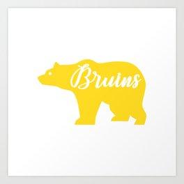 Yellow Bruins Bear Art Print