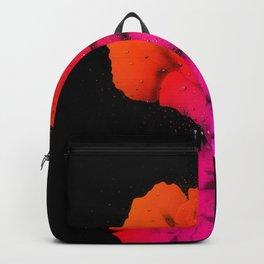 Rustic Red Rose Floral Bloom Water Drop Art Backpack