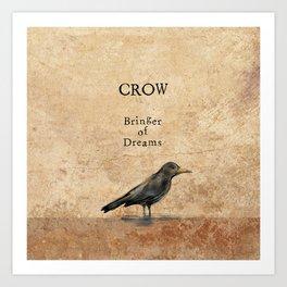 Crow, Message Bringer Art Print