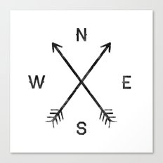 Compass (White) Canvas Print