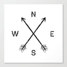 Compass (White) Canvas Print