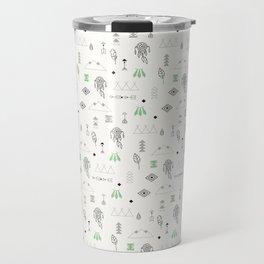 Seamless pattern with native American symbols Travel Mug