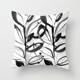 Botanical Joy No.7A by Kathy Morton Stanion Throw Pillow