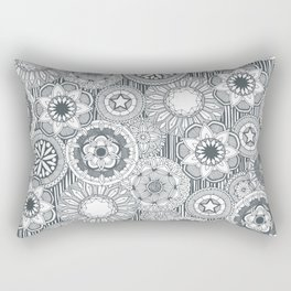 mandala cirque metal white Rectangular Pillow