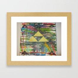 Tri Force Crayon Art Framed Art Print