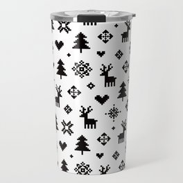 WINTER FOREST - PIXEL PATTERN Travel Mug
