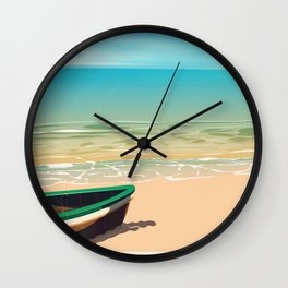 Great Yarmouth, Norfolk, Seaside travel poster Wall Clock