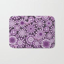 Ceramic Flowers & Butterflies (Acai) Bath Mat