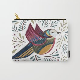 Peace Bird | White Carry-All Pouch