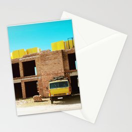 Construction site Stationery Cards