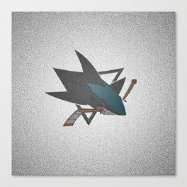 Sharks Logo Canvas Print