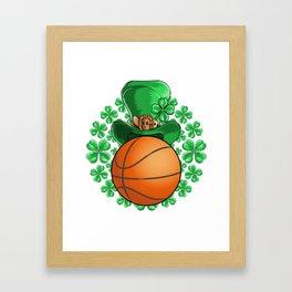 Basketball Saint Patricks Day Framed Art Print