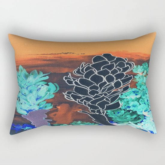DESERT NIGHT Alpinia Purpurata Rectangular Pillow