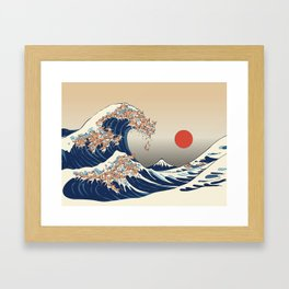The Great Wave of Chihuahua Framed Art Print