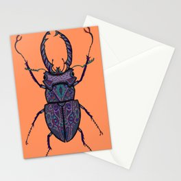 Psychedelic Stag Beetle  Stationery Cards