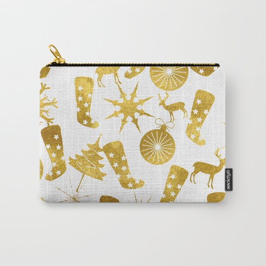 Gold Christmas 06 Carry-All Pouch