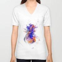 big bang V-neck T-shirts featuring Big Bang Theory by Brian Raggatt