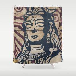 Hindu mural Shower Curtain