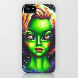 Iconic Alien Women: Marilyn iPhone Case