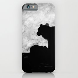 Grizzly Bear Silhouette iPhone Case